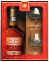 Gaston de Lagrange V.S.O.P., with 2 glasses in box / Гастон де Лагранж В.С.О.П., п/у с 2 стаканами